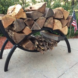 3ft Woodhaven Crescent Firewood Rack
